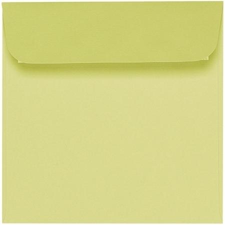 Artoz 1001 - 'Lime' Envelope. 160mm x 160mm 100gsm Square Peel/Seal Envelope.
