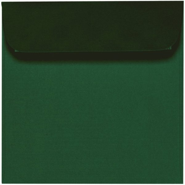 Artoz 1001 - 'Racing Green' Envelope. 160mm x 160mm 100gsm Square Peel/Seal Envelope.