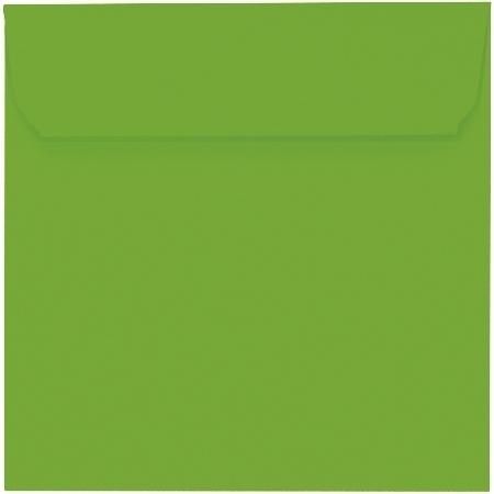 Artoz 1001 - 'Pea Green' Envelope. 160mm x 160mm 100gsm Square Peel/Seal Envelope.
