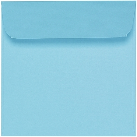 Artoz 1001 - 'Azure Blue' Envelope. 160mm x 160mm 100gsm Square Peel/Seal Envelope.