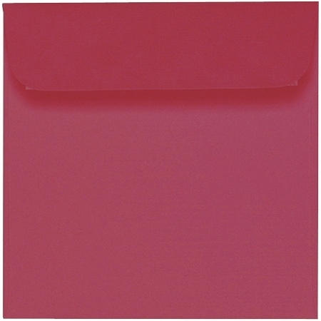Artoz 1001 - 'Purple Red' Envelope. 160mm x 160mm 100gsm Square Peel/Seal Envelope.