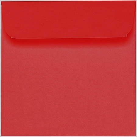 Artoz 1001 - 'Red' Envelope. 160mm x 160mm 100gsm Square Peel/Seal Envelope.