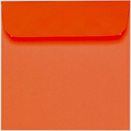 Artoz 1001 - 'Lobster Red' Envelope. 160mm x 160mm 100gsm Square Peel/Seal Envelope.