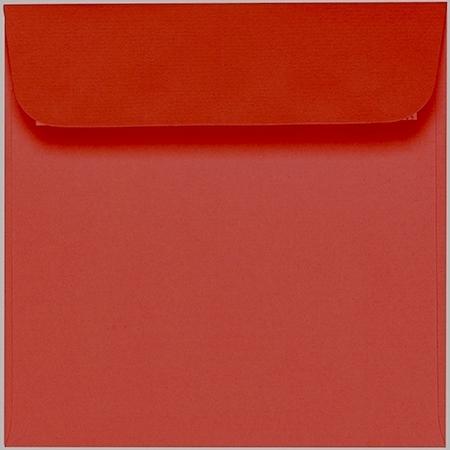 Artoz 1001 - 'Fire Red' Envelope. 160mm x 160mm 100gsm Square Peel/Seal Envelope.
