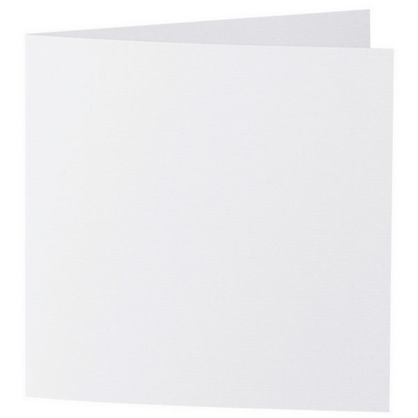 Artoz 1001 - 'Blossom White' Card. 332mm x 166mm 220gsm Large Square Folded Card.