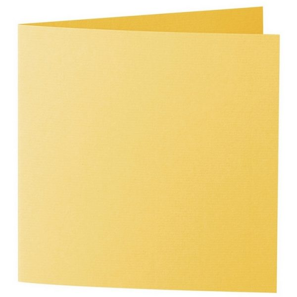 Artoz 1001 - 'Sun Yellow' Card. 332mm x 166mm 220gsm Large Square Folded Card.