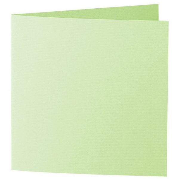 Artoz 1001 - 'Birchtree Green' Card. 332mm x 166mm 220gsm Large Square Folded Card.