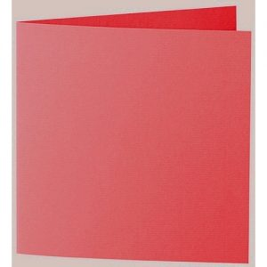 Artoz 1001 - 'Light Red' Card. 332mm x 166mm 220gsm Large Square Folded Card.