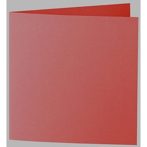 Artoz 1001 - 'Fire Red' Card. 332mm x 166mm 220gsm Large Square Folded Card.