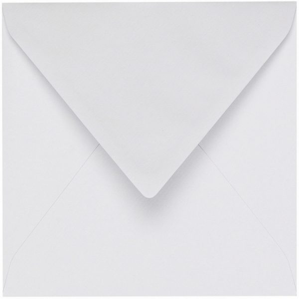 Artoz 1001 - 'Blossom White' Envelope. 175mm x 175mm 100gsm Large Square Gummed Envelope.