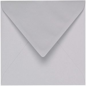 Artoz 1001 - 'Light Grey' Envelope. 175mm x 175mm 100gsm Large Square Gummed Envelope.