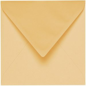 Artoz 1001 - 'Honey Yellow' Envelope. 175mm x 175mm 100gsm Large Square Gummed Envelope.