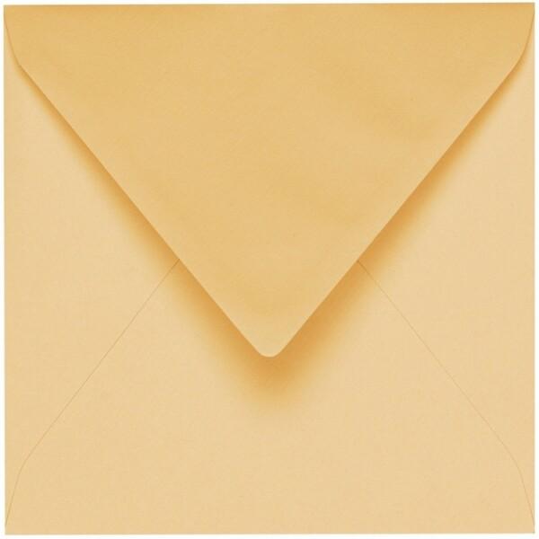 Artoz 1001 - 'Honey Yellow' Envelope. 175mm x 175mm 100gsm Large Square Gummed Envelope.