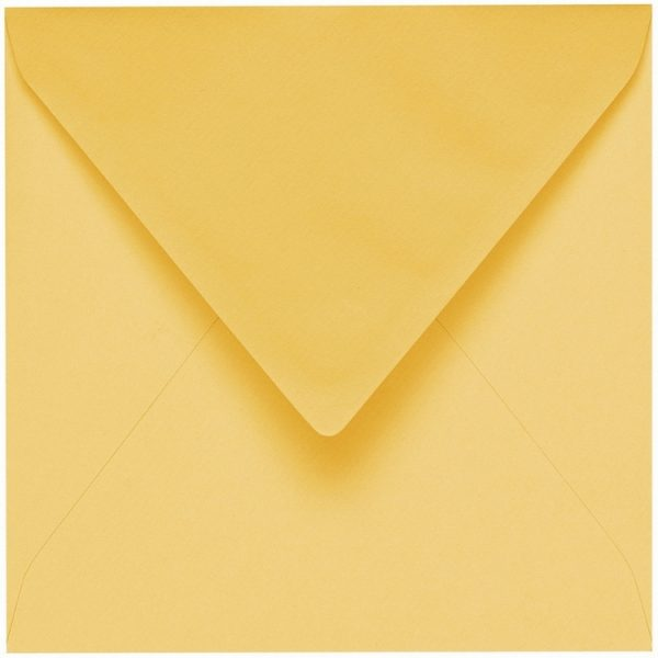 Artoz 1001 - 'Light Yellow' Envelope. 175mm x 175mm 100gsm Large Square Gummed Envelope.