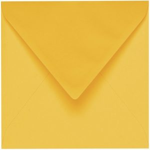 Artoz 1001 - 'Sun Yellow' Envelope. 175mm x 175mm 100gsm Large Square Gummed Envelope.