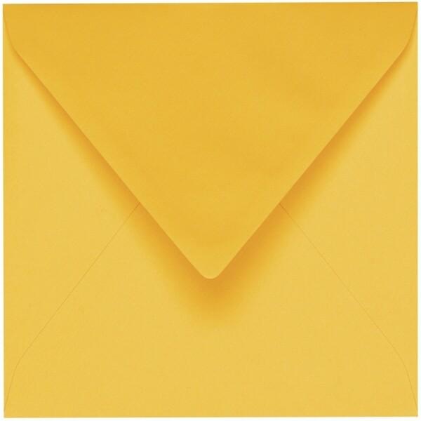 Artoz 1001 - 'Sun Yellow' Envelope. 175mm x 175mm 100gsm Large Square Gummed Envelope.