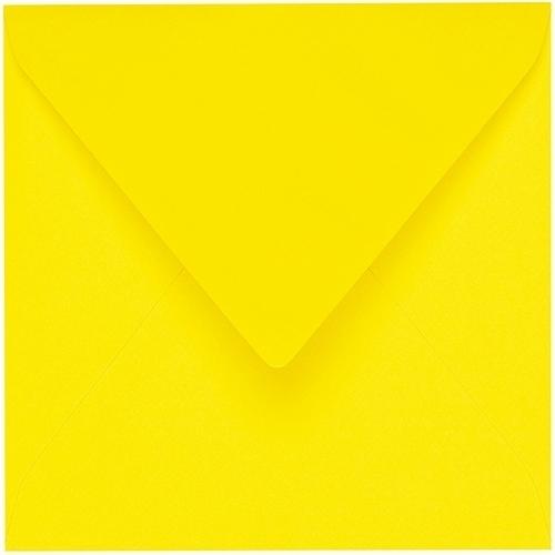 Artoz 1001 - 'Corn Yellow' Envelope. 175mm x 175mm 100gsm Large Square Gummed Envelope.