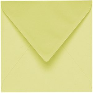 Artoz 1001 - 'Lime' Envelope. 175mm x 175mm 100gsm Large Square Gummed Envelope.