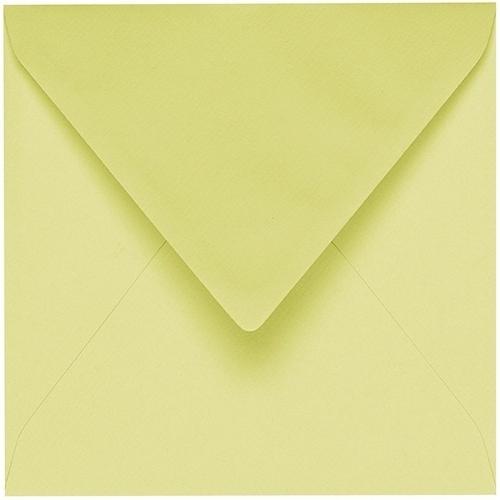 Artoz 1001 - 'Lime' Envelope. 175mm x 175mm 100gsm Large Square Gummed Envelope.