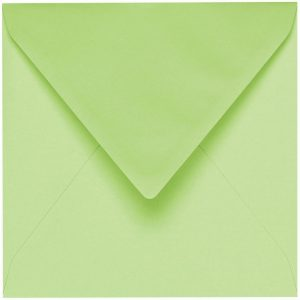 Artoz 1001 - 'Birchtree Green' Envelope. 175mm x 175mm 100gsm Large Square Gummed Envelope.