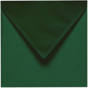 Artoz 1001 - 'Racing Green' Envelope. 175mm x 175mm 100gsm Large Square Gummed Envelope.