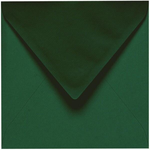 Artoz 1001 - 'Racing Green' Envelope. 175mm x 175mm 100gsm Large Square Gummed Envelope.