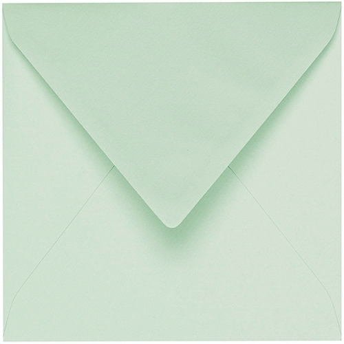Artoz 1001 - 'Pale Mint' Envelope. 175mm x 175mm 100gsm Large Square Gummed Envelope.
