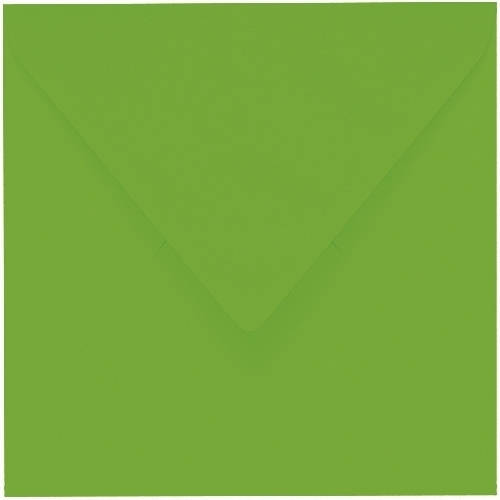 Artoz 1001 - 'Pea Green' Envelope. 175mm x 175mm 100gsm Large Square Gummed Envelope.