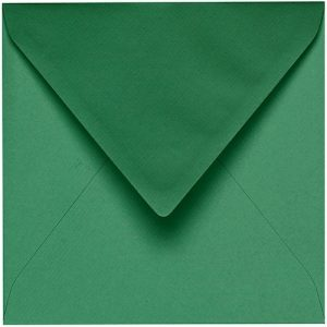 Artoz 1001 - 'Firtree Green' Envelope. 175mm x 175mm 100gsm Large Square Gummed Envelope.