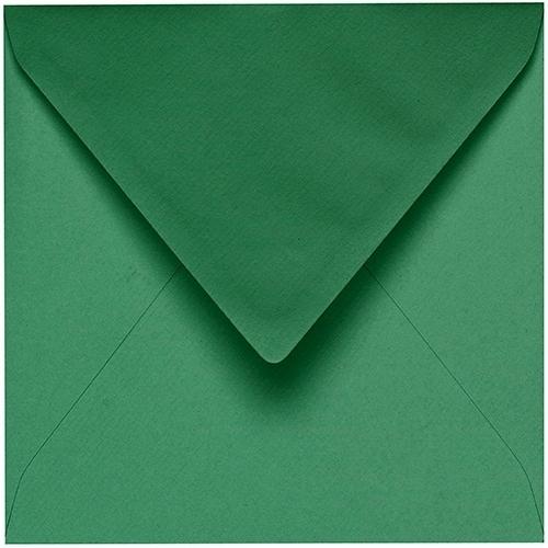 Artoz 1001 - 'Firtree Green' Envelope. 175mm x 175mm 100gsm Large Square Gummed Envelope.