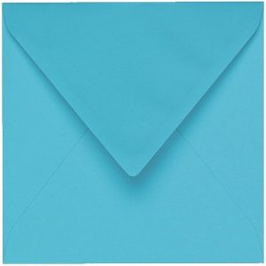 Artoz 1001 - 'Turquoise' Envelope. 175mm x 175mm 100gsm Large Square Gummed Envelope.