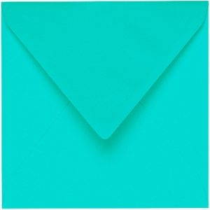 Artoz 1001 - 'Emerald Green' Envelope. 175mm x 175mm 100gsm Large Square Gummed Envelope.