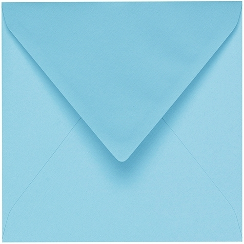 Artoz 1001 - 'Azure Blue' Envelope. 175mm x 175mm 100gsm Large Square Gummed Envelope.