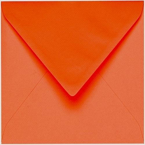 Artoz 1001 - 'Lobster Red' Envelope. 175mm x 175mm 100gsm Large Square Gummed Envelope.