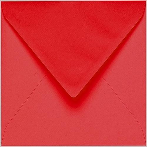 Artoz 1001 - 'Light Red' Envelope. 175mm x 175mm 100gsm Large Square Gummed Envelope.