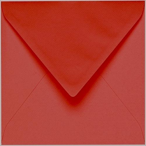 Artoz 1001 - 'Fire Red' Envelope. 175mm x 175mm 100gsm Large Square Gummed Envelope.