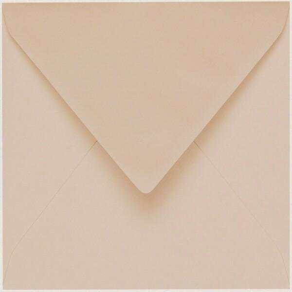 Artoz 1001 - 'Apricot' Envelope. 175mm x 175mm 100gsm Large Square Gummed Envelope.