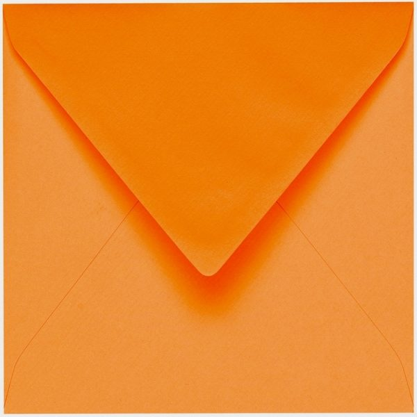 Artoz 1001 - 'Orange' Envelope. 175mm x 175mm 100gsm Large Square Gummed Envelope.