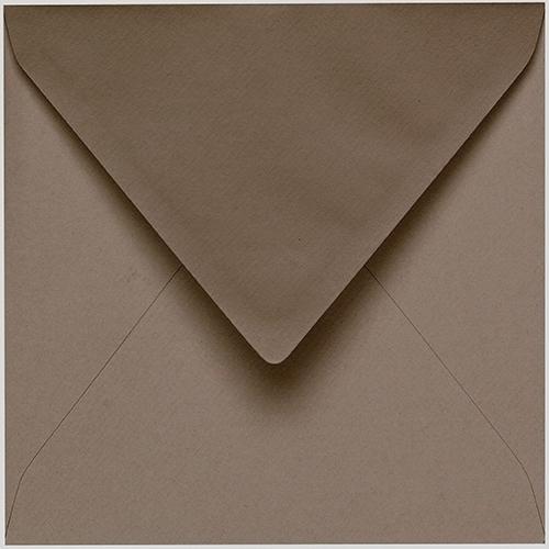 Artoz 1001 - 'Taupe' Envelope. 175mm x 175mm 100gsm Large Square Gummed Envelope.