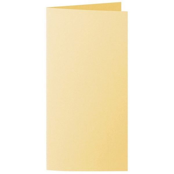 Artoz 1001 - 'Light Yellow' Card. 148mm x 210mm 220gsm Letterbox Folded (Long Edge) Card.