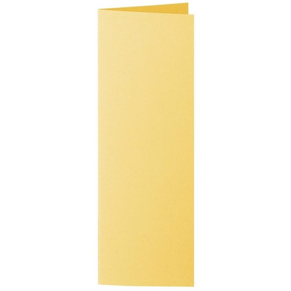 Artoz 1001 - 'Sun Yellow' Card. 148mm x 210mm 220gsm Letterbox Folded (Long Edge) Card.