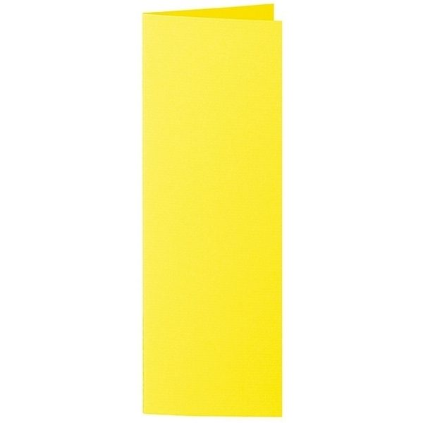 Artoz 1001 - 'Corn Yellow' Card. 148mm x 210mm 220gsm Letterbox Folded (Long Edge) Card.