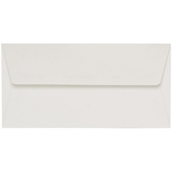 Artoz 1001 - 'Pale Ivory' Envelope. 216mm x 80mm 100gsm Letterbox Peel/Seal Envelope.