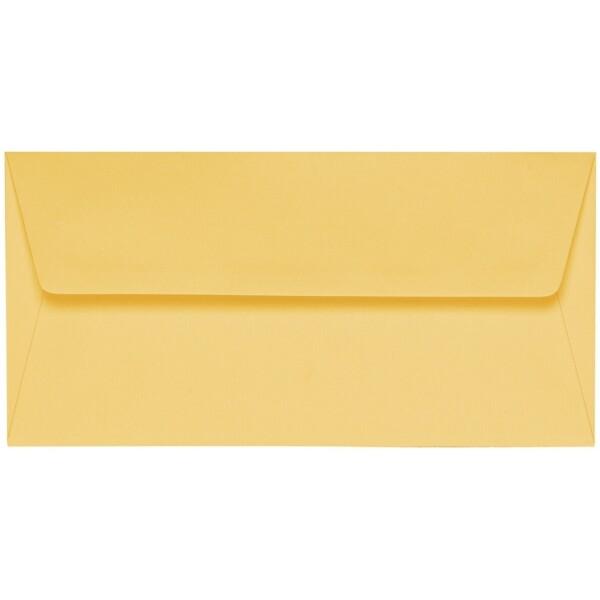 Artoz 1001 - 'Light Yellow' Envelope. 216mm x 80mm 100gsm Letterbox Peel/Seal Envelope.