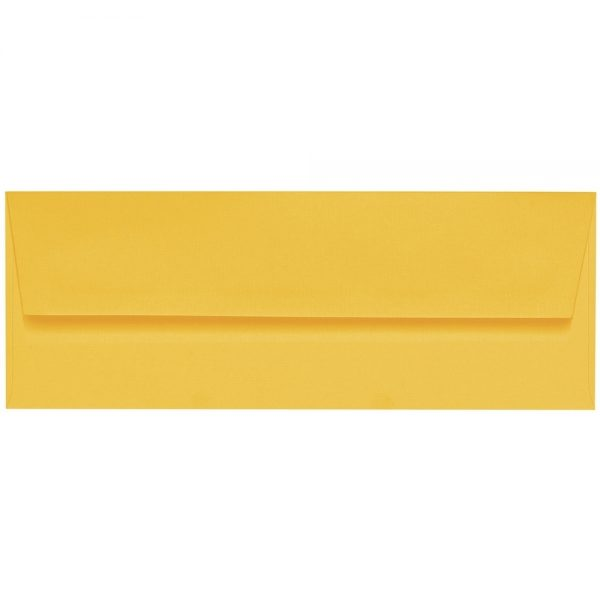 Artoz 1001 - 'Sun Yellow' Envelope. 216mm x 80mm 100gsm Letterbox Peel/Seal Envelope.