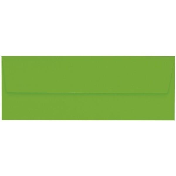 Artoz 1001 - 'Pea Green' Envelope. 216mm x 80mm 100gsm Letterbox Peel/Seal Envelope.