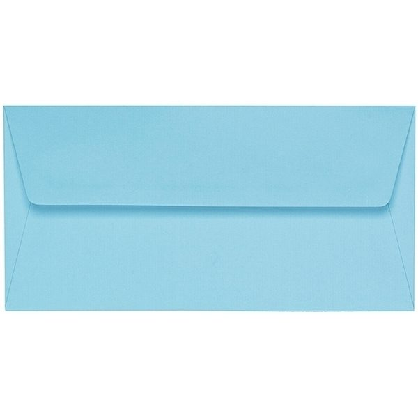 Artoz 1001 - 'Azure Blue' Envelope. 216mm x 80mm 100gsm Letterbox Peel/Seal Envelope.