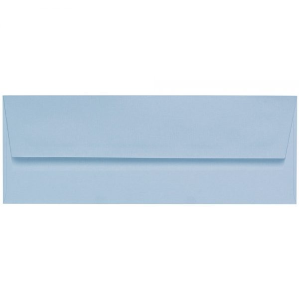 Artoz 1001 - 'Pastel Blue' Envelope. 216mm x 80mm 100gsm Letterbox Peel/Seal Envelope.