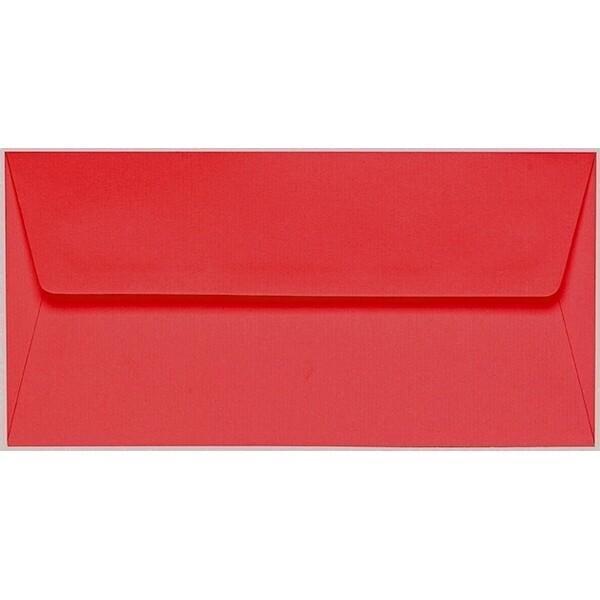 Artoz 1001 - 'Light Red' Envelope. 216mm x 80mm 100gsm Letterbox Peel/Seal Envelope.