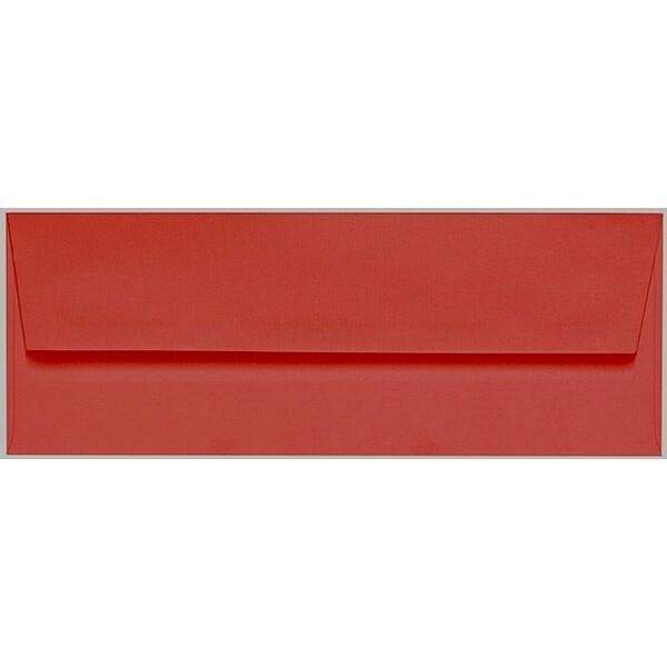 Artoz 1001 - 'Fire Red' Envelope. 216mm x 80mm 100gsm Letterbox Peel/Seal Envelope.